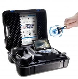 Wohler Vis 350 pan and tilt push rod pipe inspection camera system