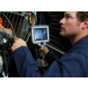 Mentor IQ Video Borescope Inspection Showing High Resolution LCD