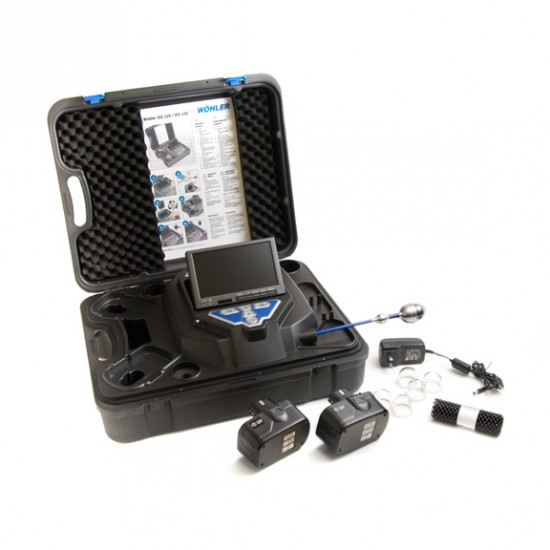 Vis 350 Push camera with rod pipe inspection camera with pan and tilt camera head and accessories