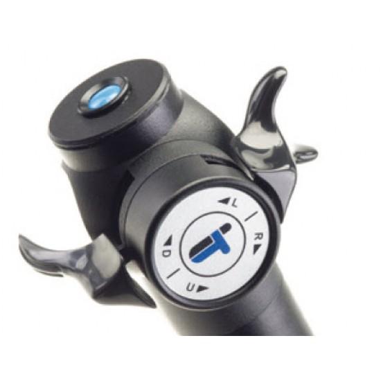 ultraviolet video borescope articulation controls