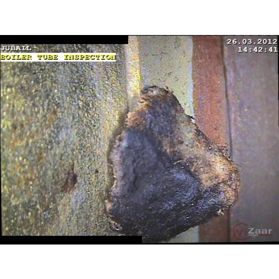 Vuman RAY videoscope shows highest resolution images with debris inside boiler tube