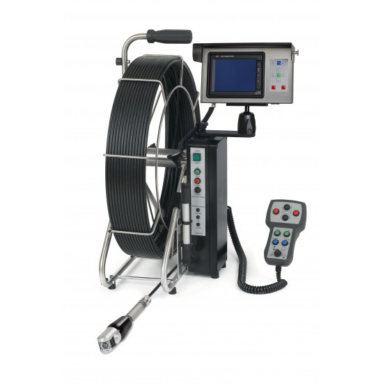 Ritec pan and tilt pipe inspection camera system with  165 ft push cable and 2 inch camera head