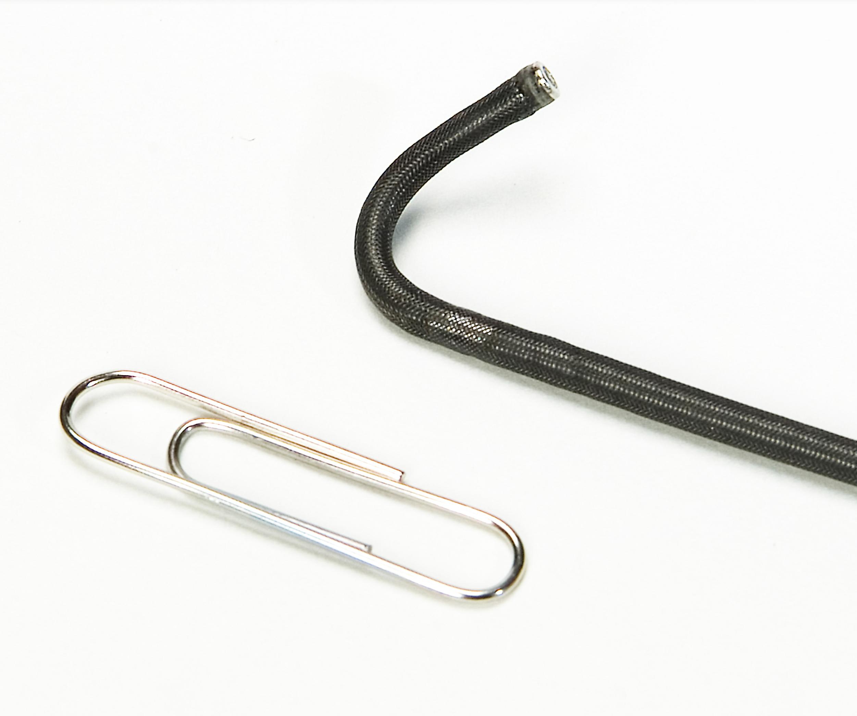 Small diameter flexible articulating fiberscope